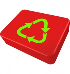 Recycle box vector