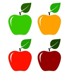 Apple icons set vector