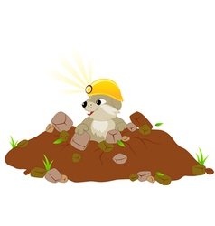 Cute groundhog day background vector