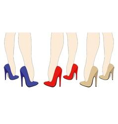 Beautiful women legs in high heels vector