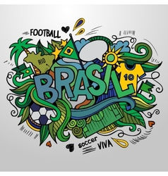 Brazil summer and doodles elements vector