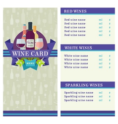 Wine card template vector