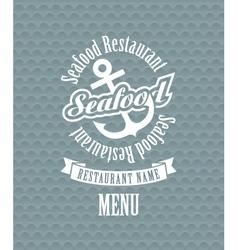 Seafood restaurant vector