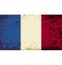 French flag grunge background vector