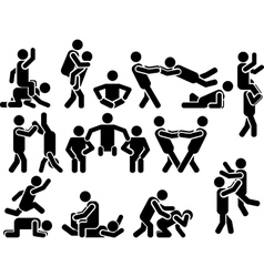 Icon man various positions vector