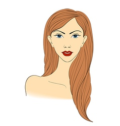 Portrait of a blond naked women vector