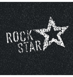 Rock star on asphalt vector
