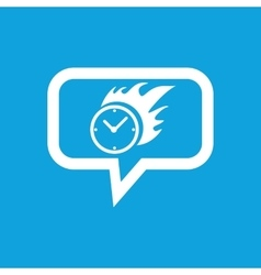 Burning clock message icon vector
