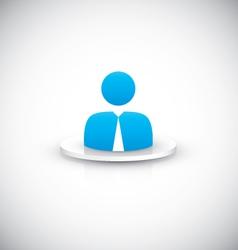 Businessman user icon vector