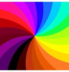 Retro spiral colorful background vector