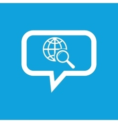 Global search message icon vector