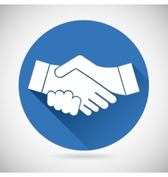 Partnership symbol handshake icon template vector