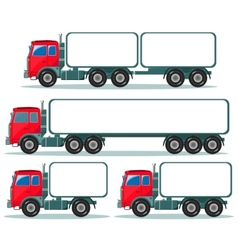 Heavy truck with space for text vector