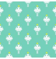 Elegant rich pattern with damask motif vector