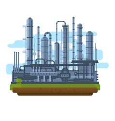 Oil production plant vector