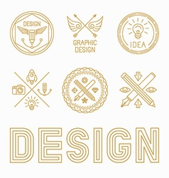 Graphic designer badges and logos vector