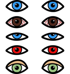 Various eyes vector