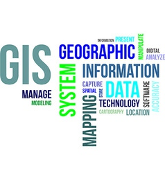 Word cloud gis vector