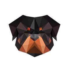 Abstract polygonal dog rottweiler vector