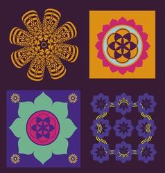 Four elements for meditation design vector