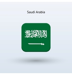 Saudi arabia flag icon vector