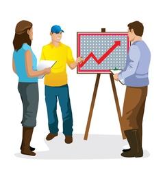 Presentation graphics of farme vector