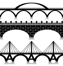 Bridges set vector