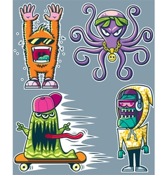 Graffiti monsters vector