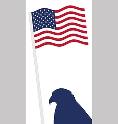 American flag and eagle shape vector