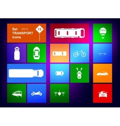 Set of transport icons navigator vector