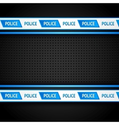 Metallic perforated black sheet police background vector