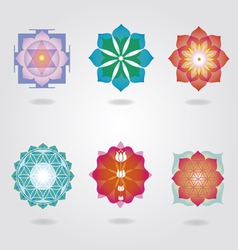 Esoteric icons set vector
