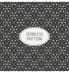 Seamless retro vintage hipster line pattern vector