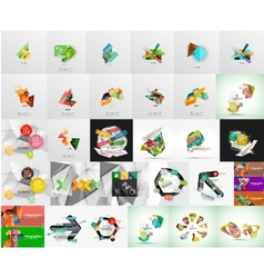 Mega set of infographic layouts labels web boxes vector