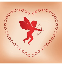 Romantic card with angel for valentine day vector