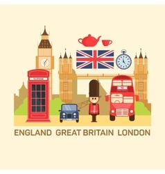 Great britain and london vector