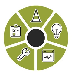 Problem solving computer icons vector