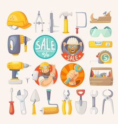 Collection of tools for house remodeling vector