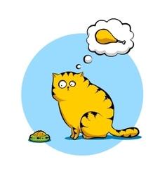 Sad cat vector