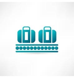 Luggage plane icon vector