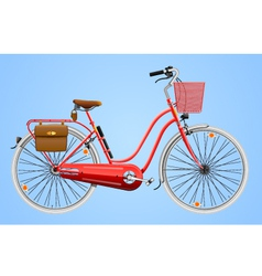 Ladies bicycle vector