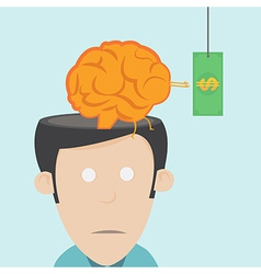 Brain drain the loss of talent vector