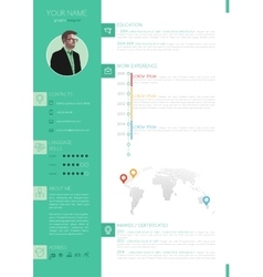 Elegant minimalist style resume - cv vector