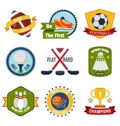Sports logo set vector