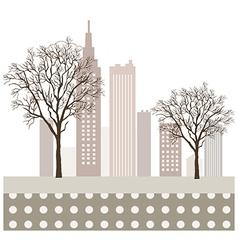 Park cityscape vector