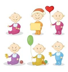 Cartoon children with toys vector