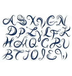 Handwritten letters font type vector