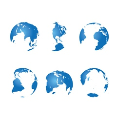 Set - blue continents vector