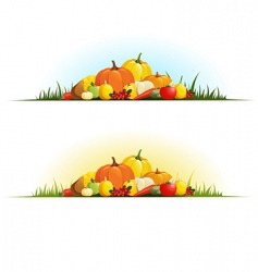 Autumn gifts vector