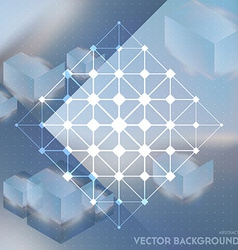 Abstract background with isometric cubes with vector